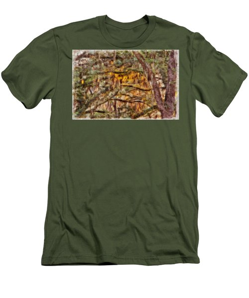 Spanish Moss And Sunset Men's T-Shirt (Athletic Fit)