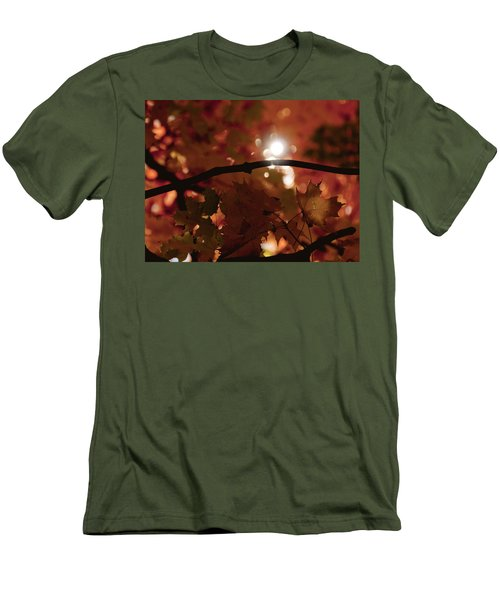 Men's T-Shirt (Slim Fit) featuring the photograph Spotlight On Fall by Cheryl Baxter