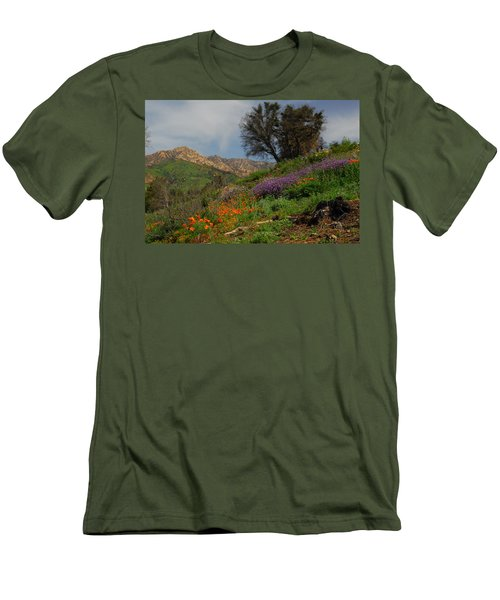 Spring In Santa Barbara Men's T-Shirt (Slim Fit) by Lynn Bauer
