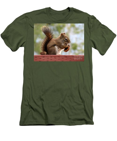 Squirrel And His Walnut Men's T-Shirt (Slim Fit) by Leone Lund