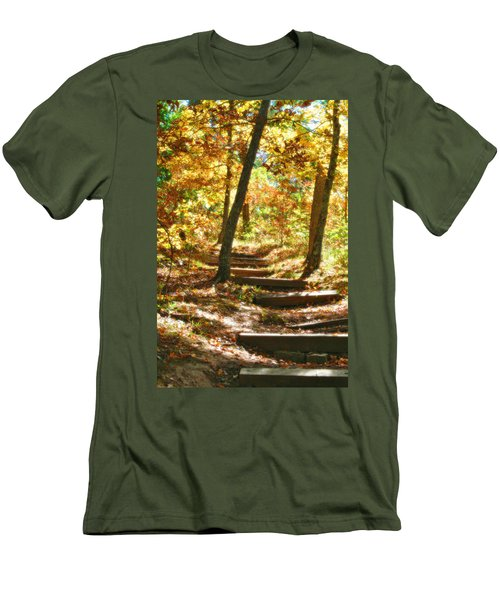 Men's T-Shirt (Slim Fit) featuring the photograph Stairway To Heaven by Peggy Franz