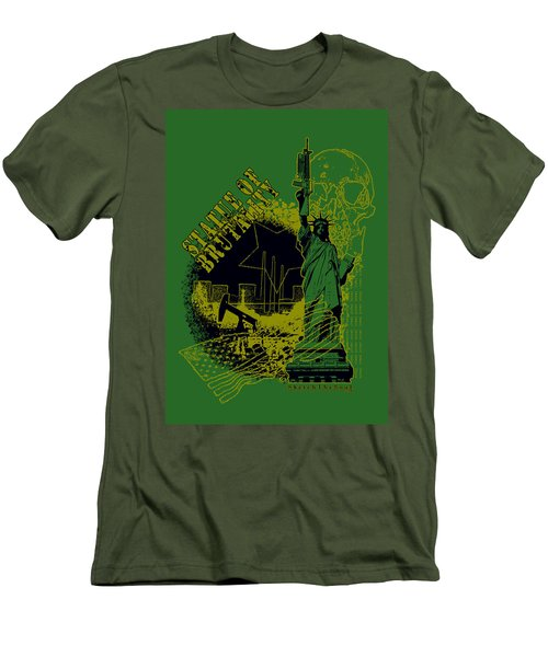Statue Of Brutality  Men's T-Shirt (Slim Fit) by Tony Koehl