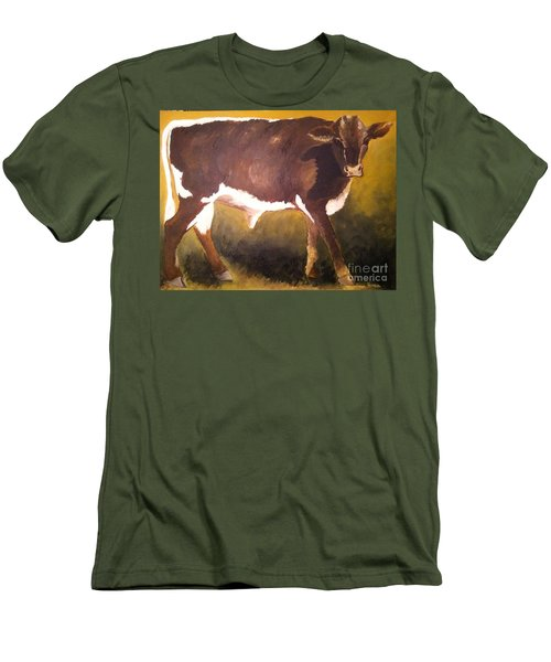 Steer Calf Men's T-Shirt (Athletic Fit)