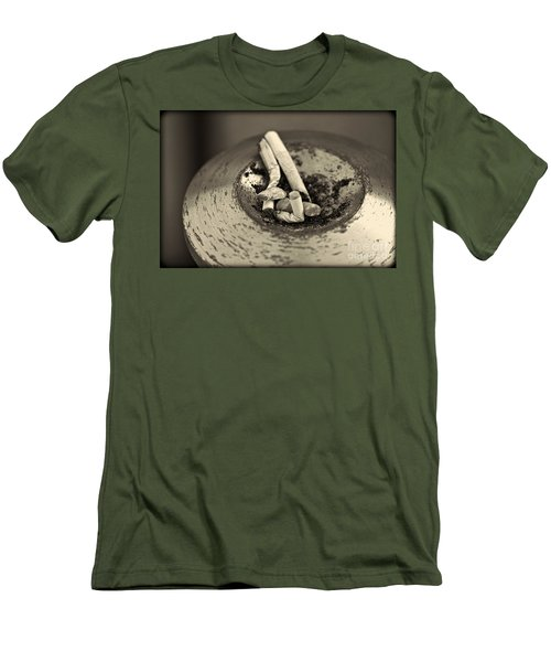 Men's T-Shirt (Slim Fit) featuring the photograph Stubbed Out. by Clare Bambers