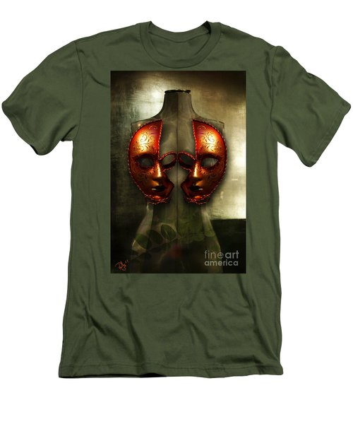 Suckling The Silence  Viriditas Men's T-Shirt (Slim Fit) by Rosa Cobos