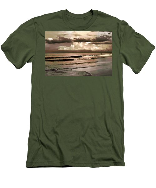 Men's T-Shirt (Slim Fit) featuring the photograph Summer Afternoon At The Beach by Steven Sparks