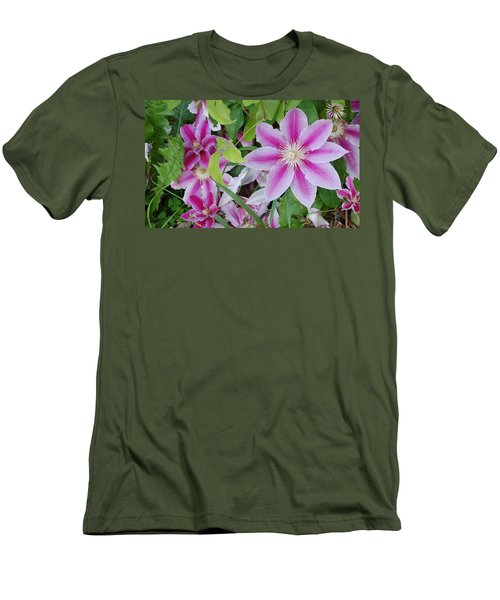 Summer Clematis Men's T-Shirt (Athletic Fit)