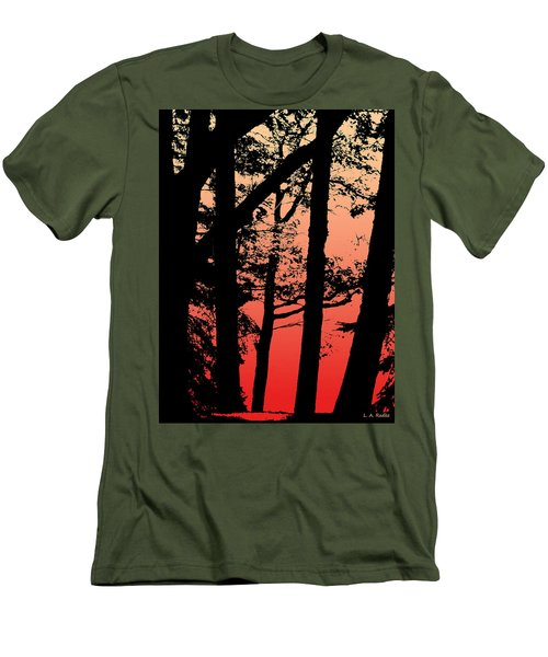 Summer Sunset Men's T-Shirt (Slim Fit) by Lauren Radke