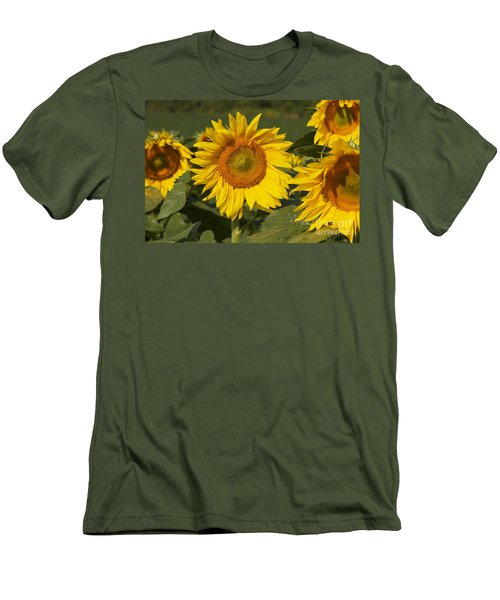 Men's T-Shirt (Slim Fit) featuring the photograph Sun Flower by William Norton