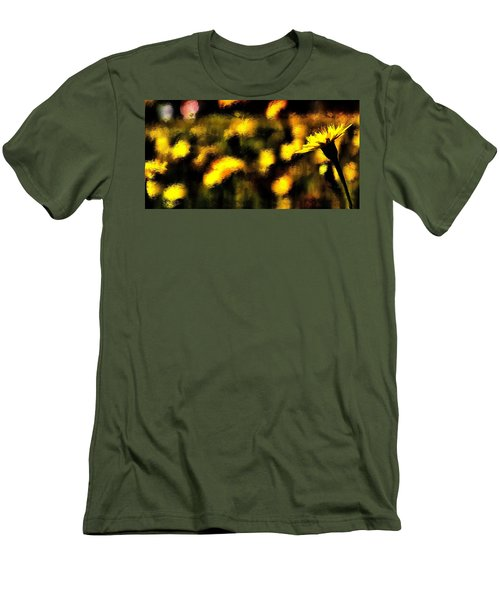 Men's T-Shirt (Slim Fit) featuring the mixed media Sun Worshiper by Terence Morrissey