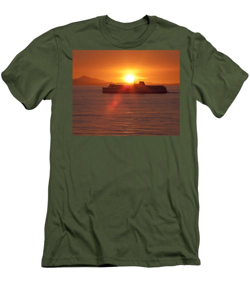 Men's T-Shirt (Slim Fit) featuring the photograph Sunset by Eunice Gibb
