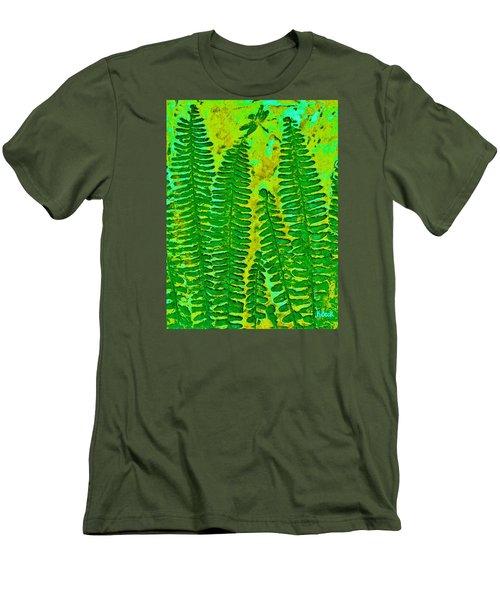 Sword Fern Fossil-green Men's T-Shirt (Athletic Fit)