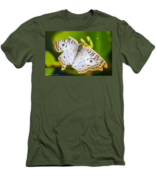 Men's T-Shirt (Slim Fit) featuring the photograph Tattered Moth by Shannon Harrington