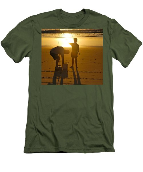 Men's T-Shirt (Slim Fit) featuring the photograph Teach A Man To Fish... by Eric Tressler