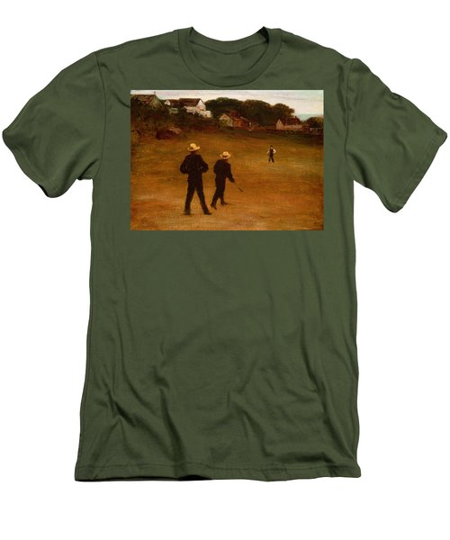 The Ball Players Men's T-Shirt (Slim Fit) by William Morris Hunt