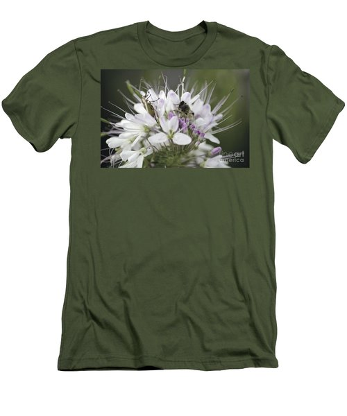 The Beetle And The Bee Men's T-Shirt (Slim Fit) by Donna Greene