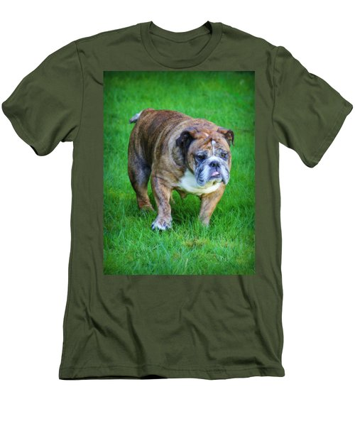Men's T-Shirt (Slim Fit) featuring the photograph The Bulldog Shuffle by Jeanette C Landstrom