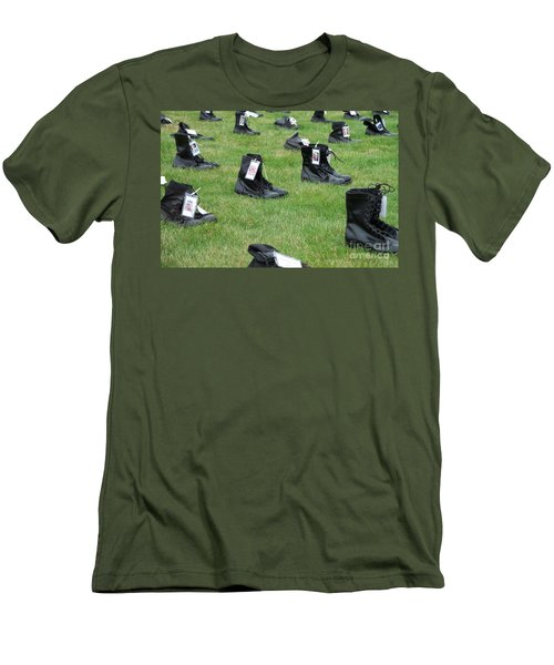 Men's T-Shirt (Slim Fit) featuring the photograph The Cost Of War by Chalet Roome-Rigdon