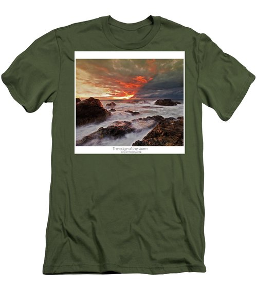 Men's T-Shirt (Slim Fit) featuring the photograph The Edge Of The Storm by Beverly Cash