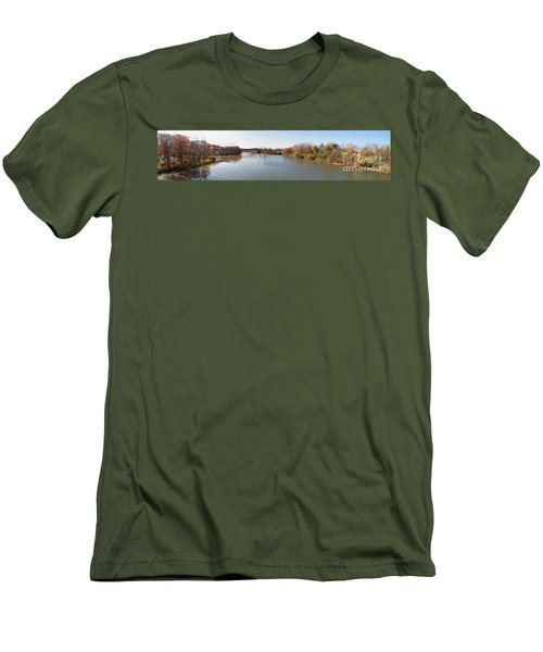 Men's T-Shirt (Slim Fit) featuring the photograph The Erie Canal Crossing The Genesee River by William Norton