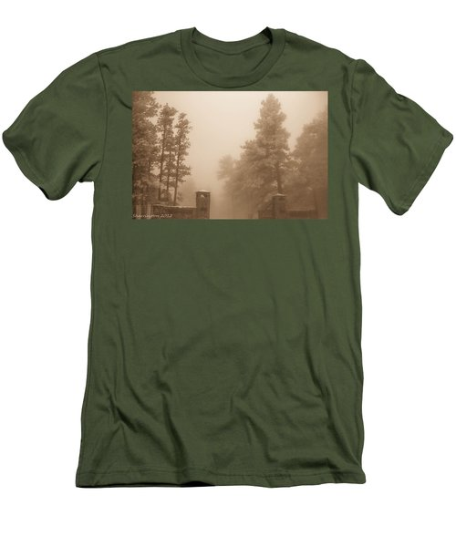 Men's T-Shirt (Slim Fit) featuring the photograph The Fog by Shannon Harrington