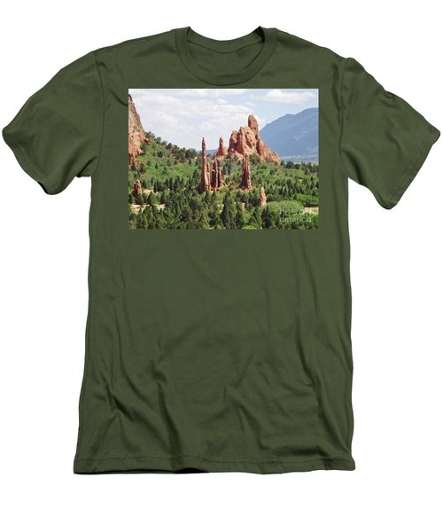 The Garden Of The Gods Men's T-Shirt (Athletic Fit)