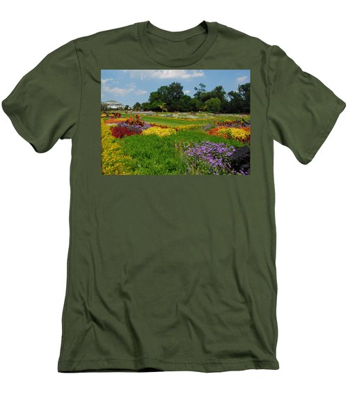 The Gardens Of The Conservatory Men's T-Shirt (Slim Fit) by Lynn Bauer