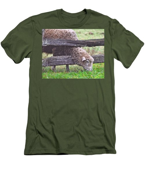 Men's T-Shirt (Slim Fit) featuring the photograph The Grass...on The Other Side by Lydia Holly