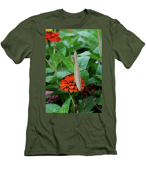 Men's T-Shirt (Slim Fit) featuring the photograph The Patience Of A Mantis by Thomas Woolworth