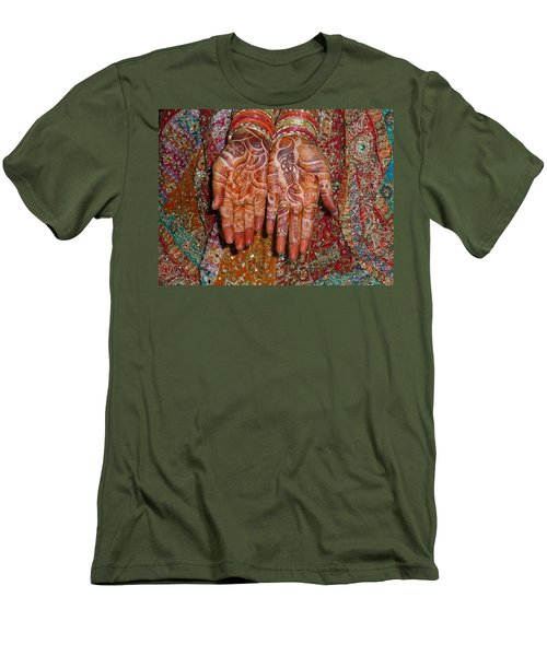 The Wonderfully Decorated Hands And Clothes Of An Indian Bride Men's T-Shirt (Athletic Fit)