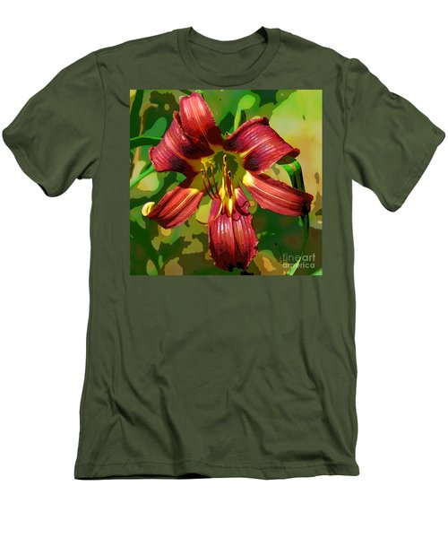 Men's T-Shirt (Slim Fit) featuring the photograph Tiger Lily by Cindy Manero