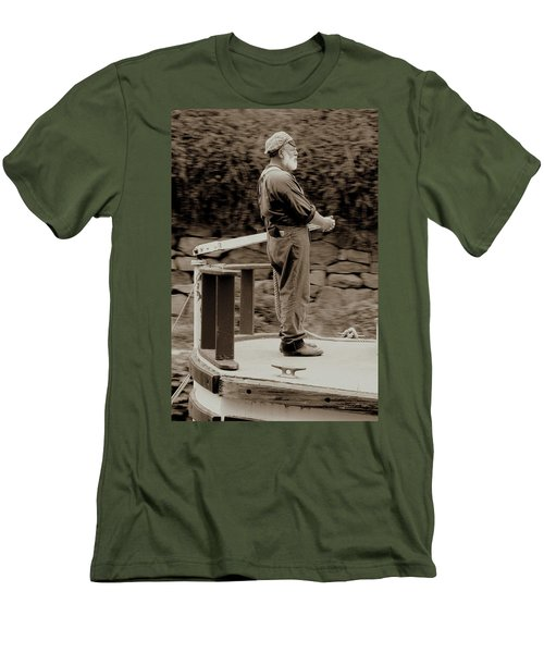 Men's T-Shirt (Slim Fit) featuring the photograph Timeless Serenity by Suzanne Stout