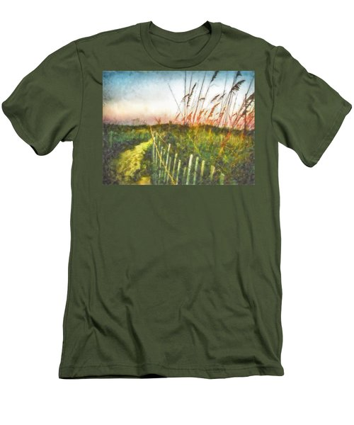 Men's T-Shirt (Slim Fit) featuring the painting To The Sea by Lynne Jenkins