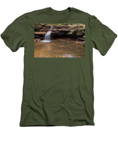 Tolliver Falls Men's T-Shirt (Slim Fit) by Jeannette Hunt