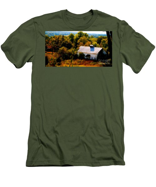 Men's T-Shirt (Slim Fit) featuring the photograph Touch Of Old Country by Peggy Franz