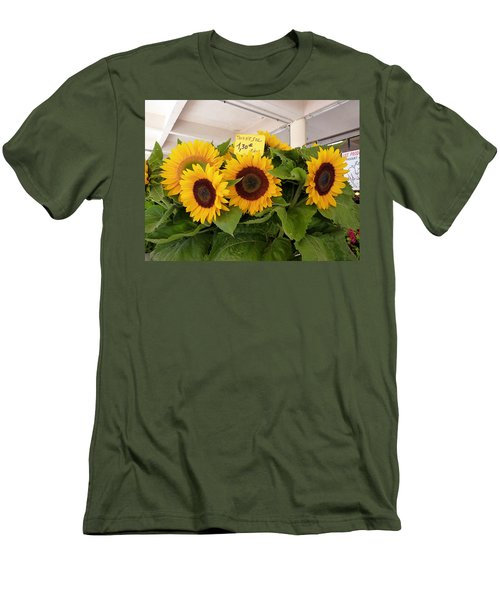 Tournesol Men's T-Shirt (Slim Fit) by Carla Parris
