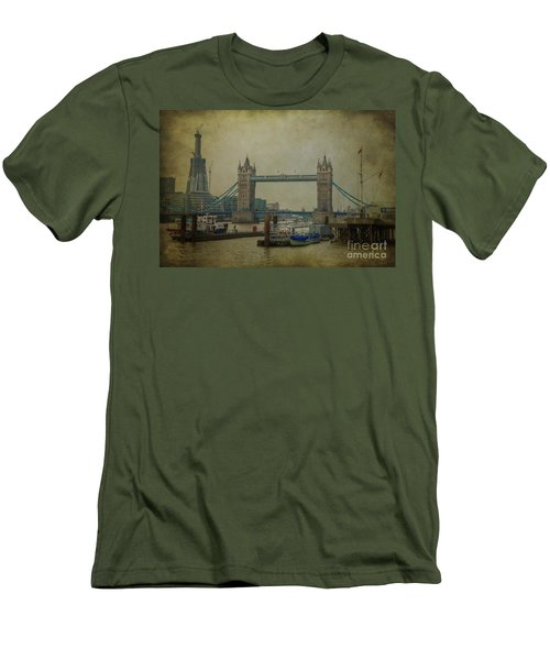 Men's T-Shirt (Slim Fit) featuring the photograph Tower Bridge. by Clare Bambers