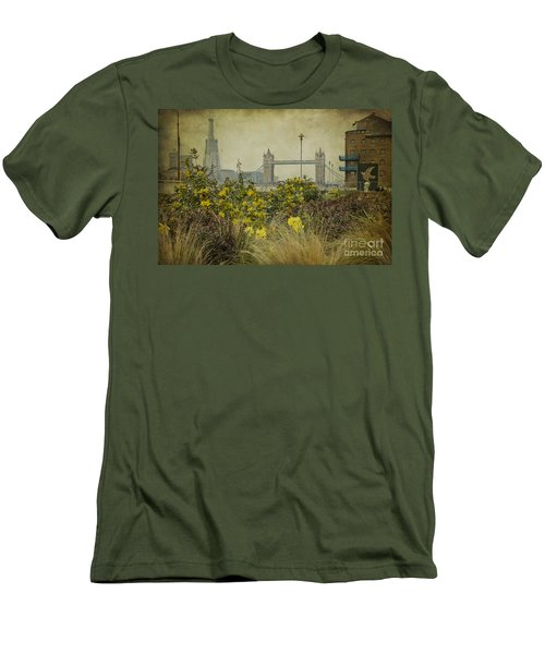 Men's T-Shirt (Slim Fit) featuring the photograph Tower Bridge In Springtime. by Clare Bambers