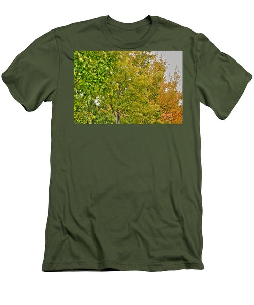 Men's T-Shirt (Slim Fit) featuring the photograph Transition Of Autumn Color by Michael Frank Jr