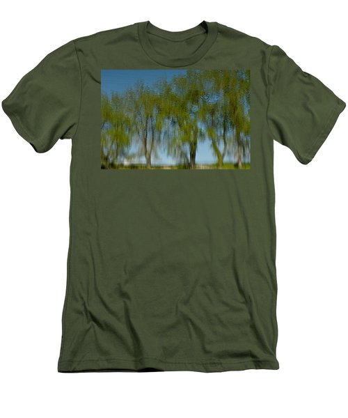 Tree Line Reflections Men's T-Shirt (Athletic Fit)