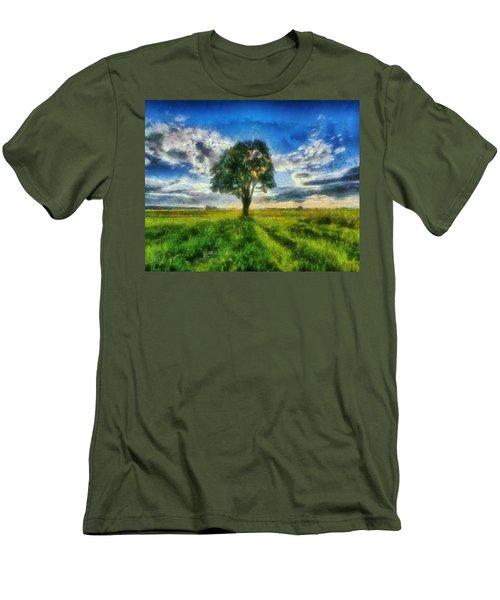 Men's T-Shirt (Slim Fit) featuring the painting Tree Of Life by Joe Misrasi