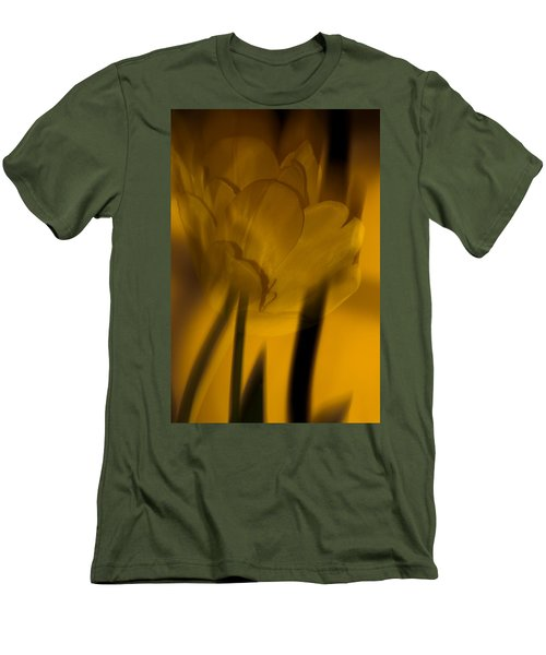 Men's T-Shirt (Slim Fit) featuring the photograph Tulip Abstract by Ed Gleichman