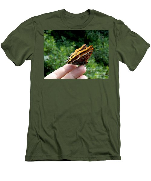 Men's T-Shirt (Slim Fit) featuring the photograph Two Tailed Pasha by Lainie Wrightson