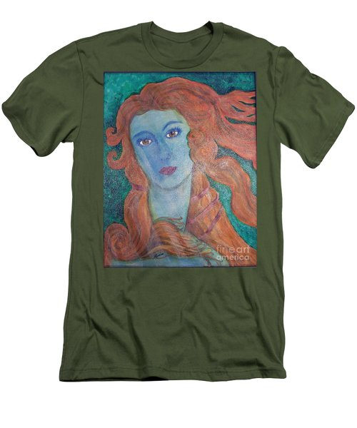 Men's T-Shirt (Slim Fit) featuring the painting Venus's Haze by Lucia Grilletto