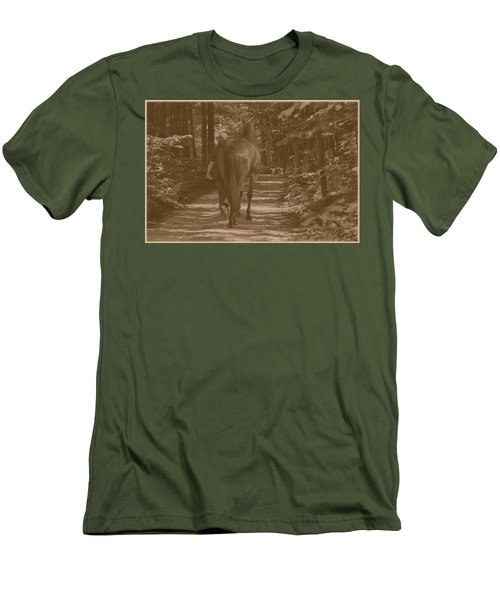 Men's T-Shirt (Slim Fit) featuring the photograph Walk Down Memory Lane by Davandra Cribbie