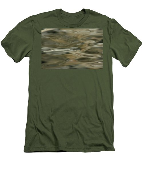 Men's T-Shirt (Slim Fit) featuring the photograph Water And Rocks  by Cathie Douglas