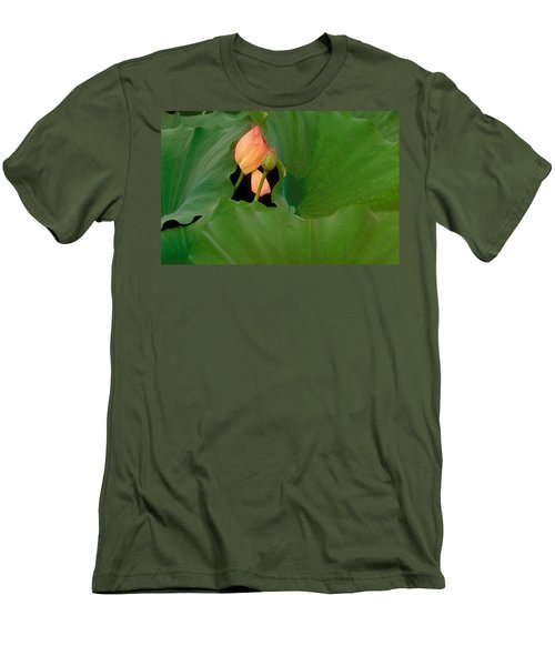 Water Lily Men's T-Shirt (Slim Fit) by Mark Greenberg