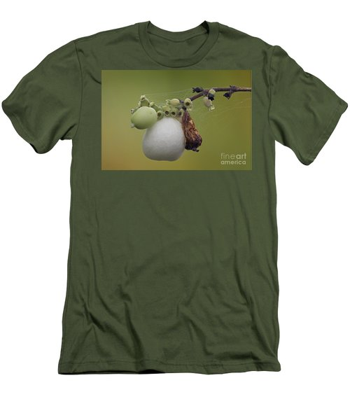 Men's T-Shirt (Slim Fit) featuring the photograph Webbed Berry by Eunice Gibb