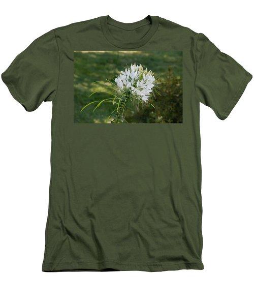 White Cleome Men's T-Shirt (Slim Fit) by Michael Bessler