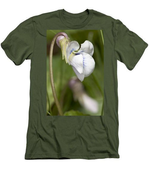 White Violet Macro Men's T-Shirt (Athletic Fit)